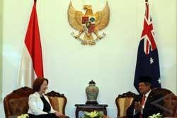 Presiden Yudhoyono Terima PM Australia