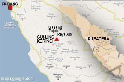 KPU Khawatirkan Gempa dan Letusan Gunung Kerinci